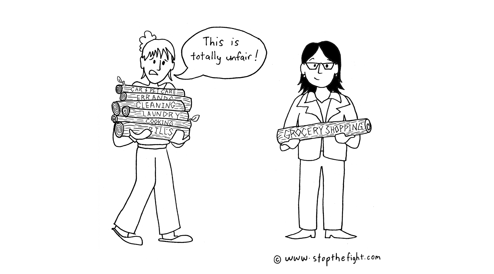 Girls with Logs_copyright